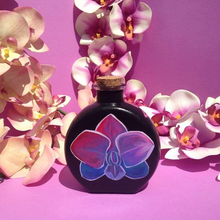 'Orchid Heartbeat' by Chloe Nava (Acrylic on Glass)