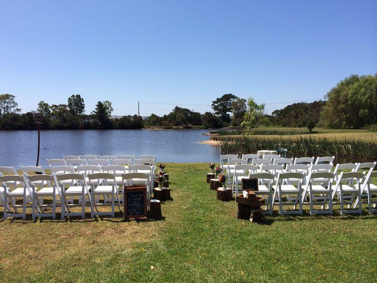 Cute ceremony by the lake Weddings at Stillwater at Crittenden, Mornington Peninsula   www.stillwateratcrittenden.com.au