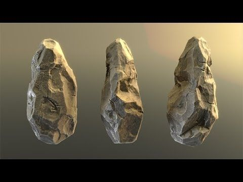 Sculpting stone in Blender with Dynamic Topology