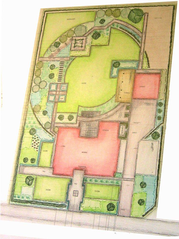 tuinontwerp, landelijke tuin, landelijke voortuin