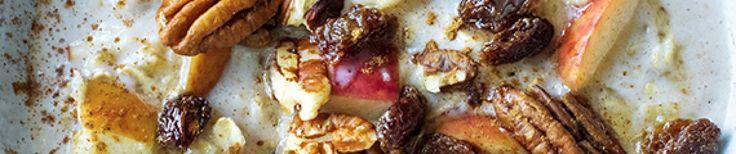 Havermoutpap met appel, kaneel, rozijnen en pecannoten  thumb