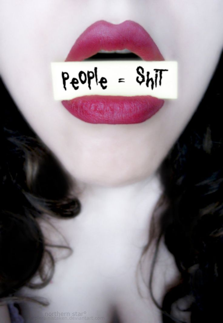 People = shit.....This is how I feel when I think of all people