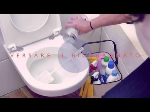 Come pulire il wc con il bicarbonato - YouTube