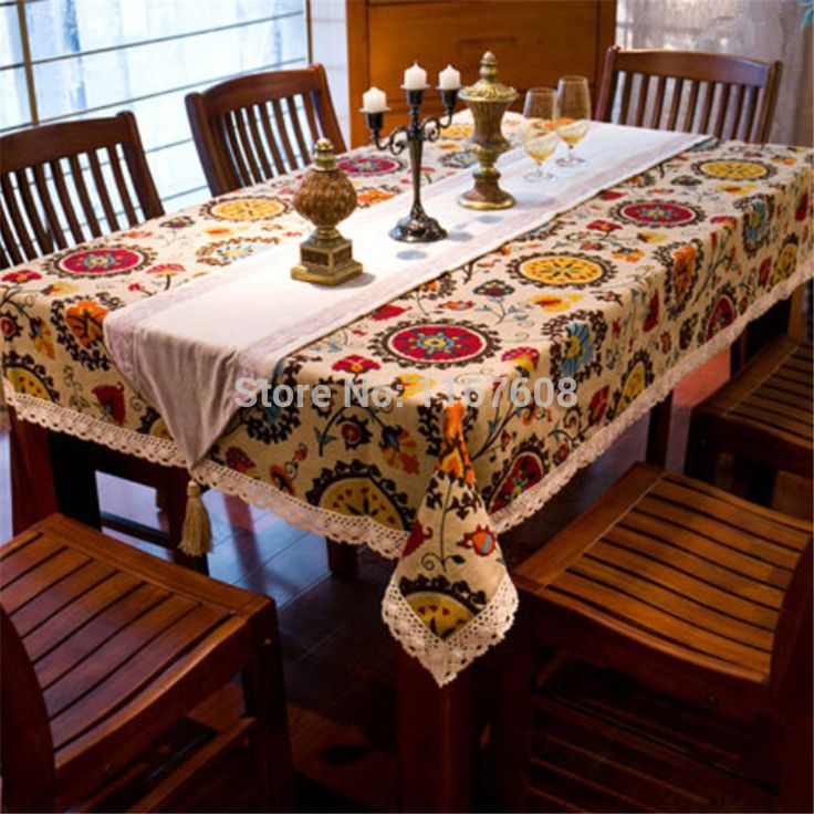 21 Best Manteles Images On Pinterest  Tablecloths Table Linens Brilliant Dining Room Table Covers Protection Decorating Design