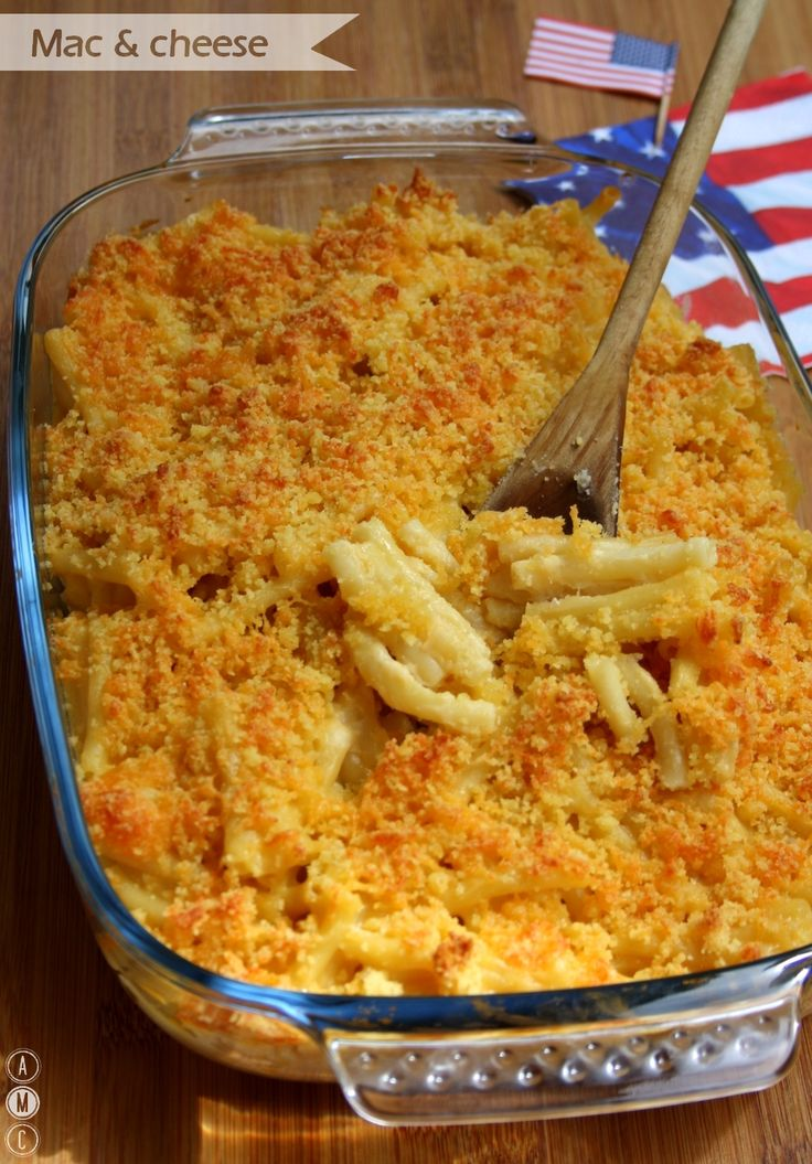 Mac & cheese (gratin de macaroni au cheddar)  Le gratin de pâte traditionnel made in US !