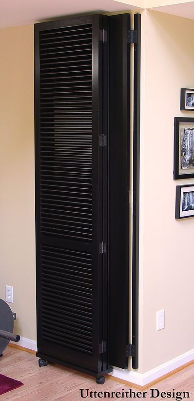 Simple door modification to make it a rolling wall.