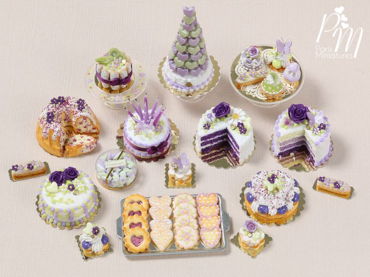 Paris Miniatures: New Purple-Themed Collection of Miniatures on Etsy Today