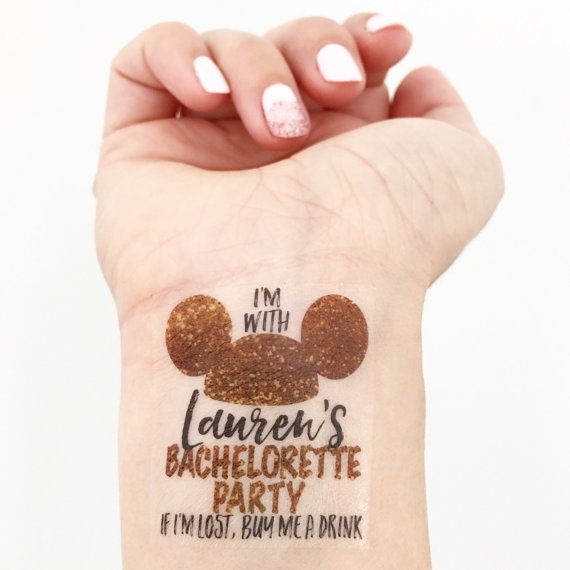 15 Custom Bachelorette Party Temporary Tattoos  by LoveAndLion