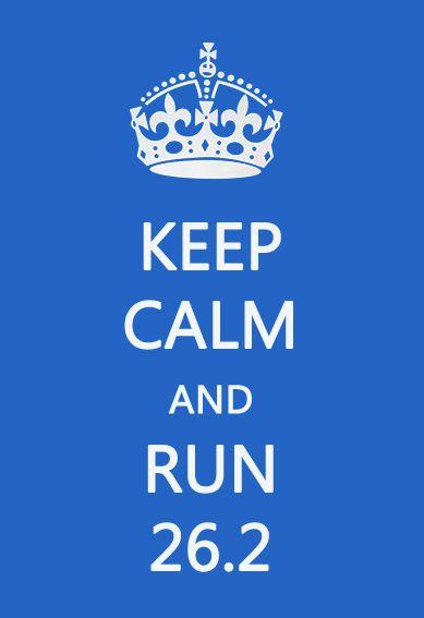 Keep calm and run 26.2. #marathon #running
