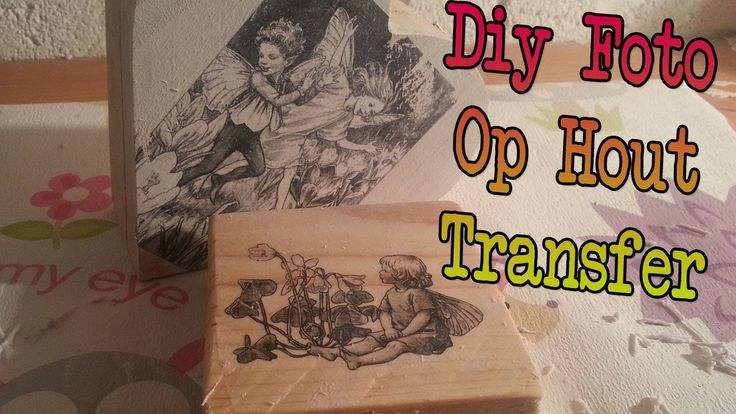 Diy Afbeelding op Hout transfer, Foto op Hout overbrenge photo image on wood transfer, with varnish and laser print!