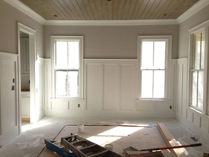 i like the idea of using wainscoting in the piano room - Wainscoting Design Ideas