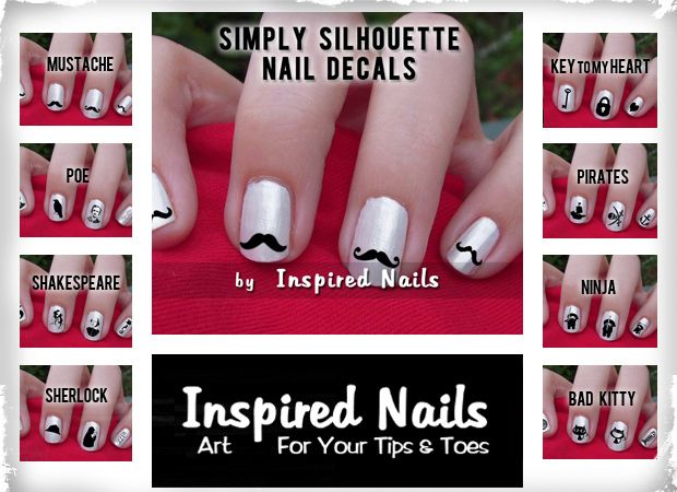 $2.99 Inspired Nails Simply Silhouette Nail Decals - Choose From 8 Unique Design Options! at VeryJane.com