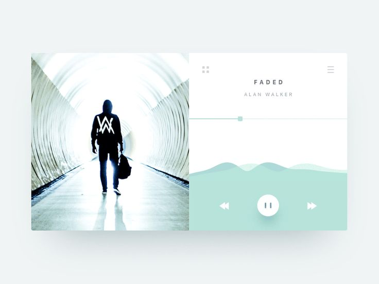 Music Player Animation - Landscape by William Jansson