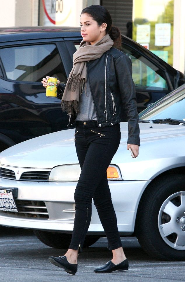 Street Chic from Celebrity Street Style Whether she's in a lux red carpet gown or relaxed in a leather jacket and skinny jeans, Selena Gomez's style is flawless.