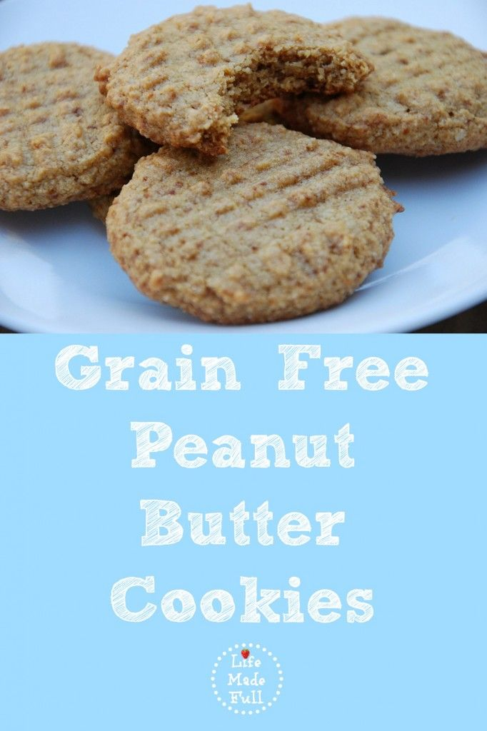 It took me awhile to perfect, but I finally came up with these grain free peanut butter cookies that are SO yummy!