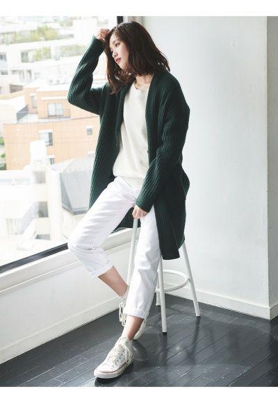 1eebae379401 UNIQLO | Styling Book WOMEN Wool Ribbed Knitted Coat | OOTD in 2019 ...