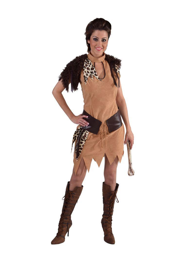 Dames Kostuum Holbewoner - Party Pakjes online feestwinkel waar het elke dag een feestje is!