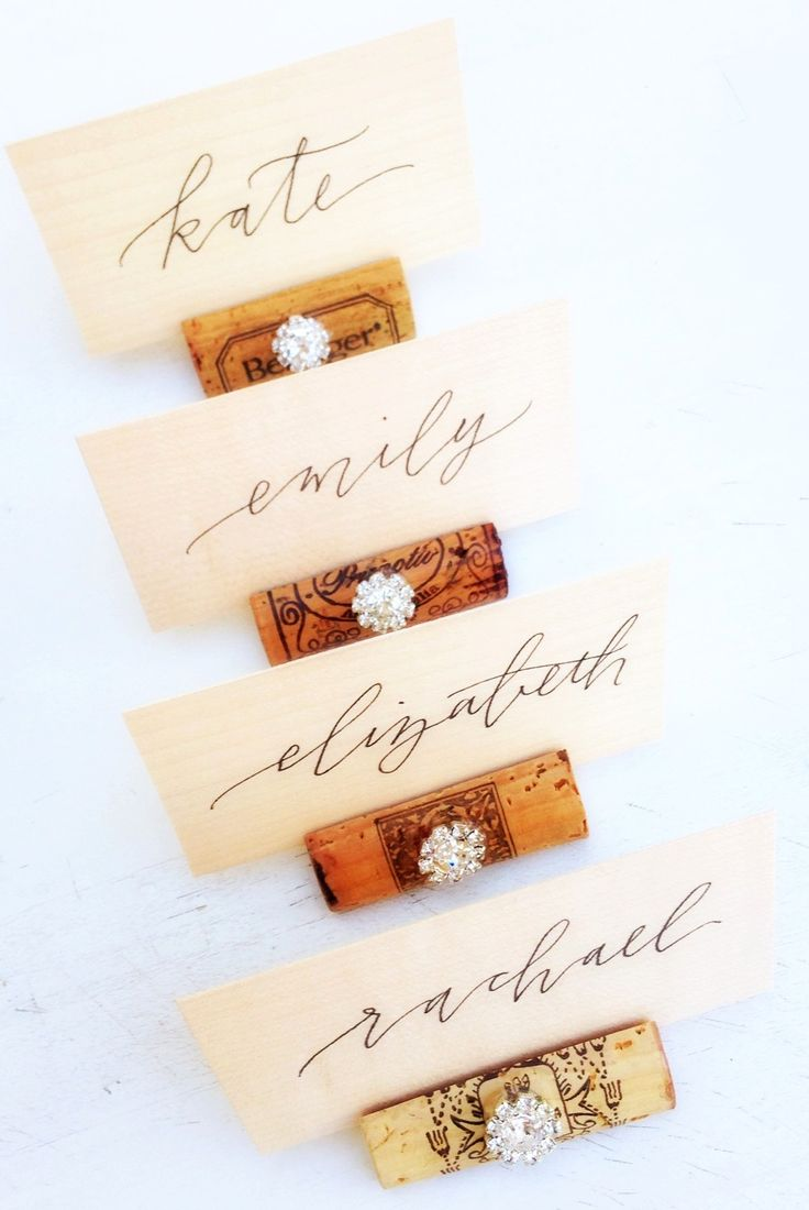 printable wedding place cards vintage%0A Rustic wedding Place Card Holders by KVW with gorgeous calligraphy on wood  slices  by Charlie