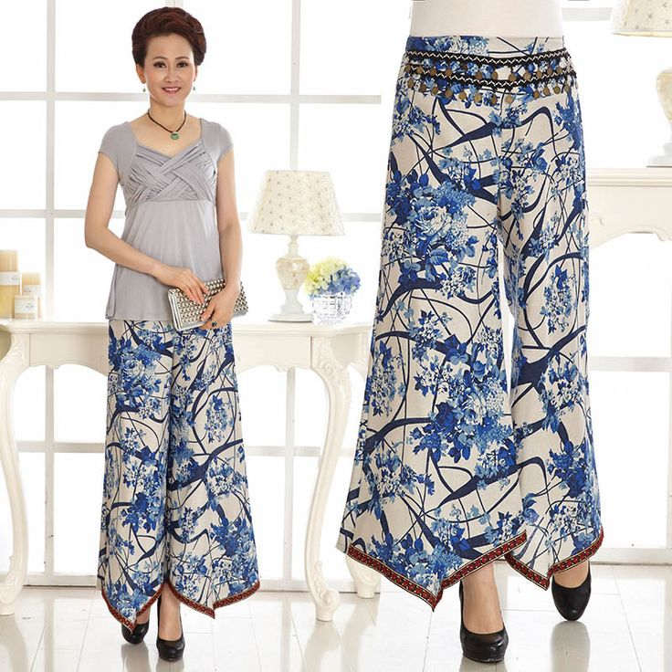 thailand culottes for woman | Sneaker Boutique Mother Womens Pants Pants Spring National Wind Retro ...
