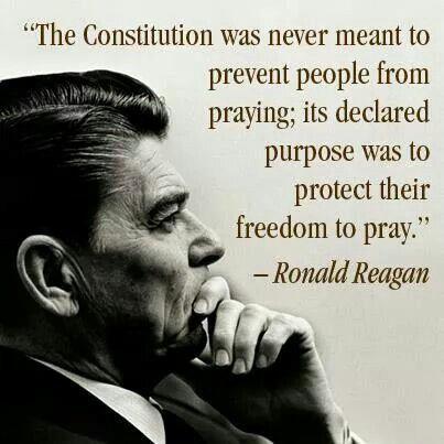 PRESIDENT Ronald Reagan - On Prayer