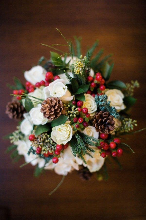 ideas de ramo de novia rojo y verde