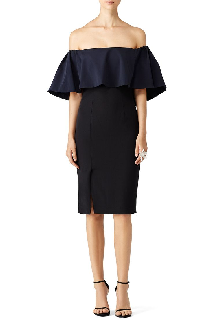 Beca Ruffle Dress by ML Monique Lhuillier for $90 | Rent the Runway