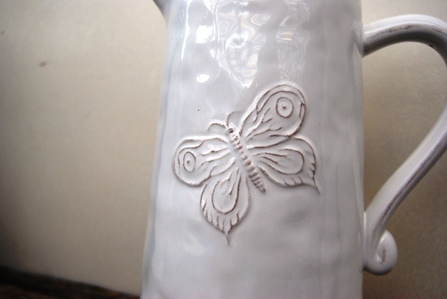 Ceramic Butterfly Jug