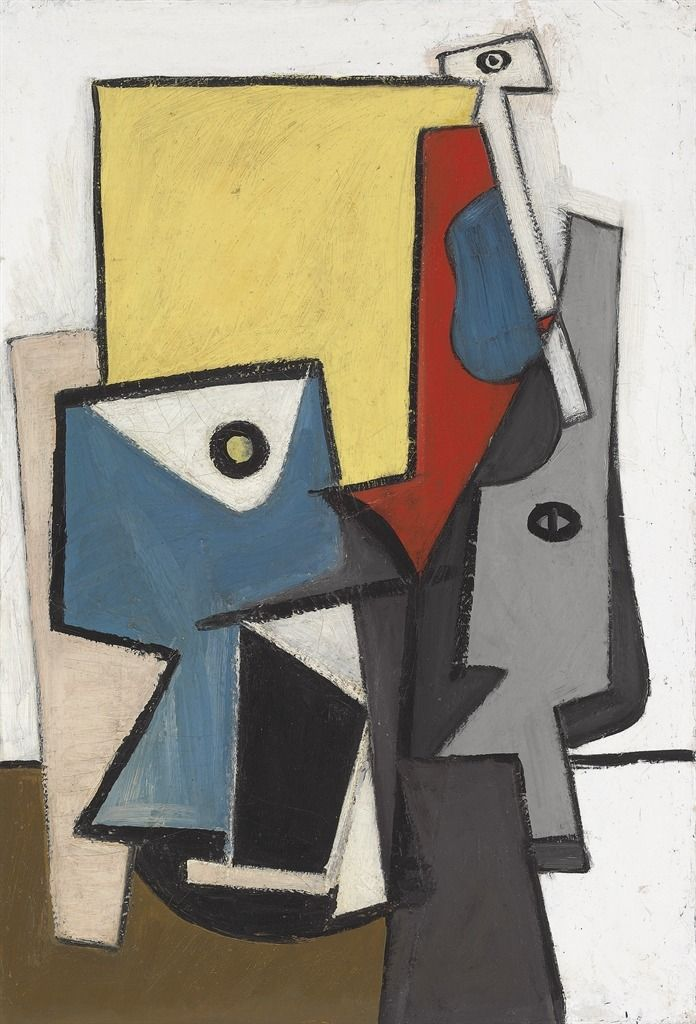 Arshile Gorky (Armenian/American, 1904-1948), Abstraction, 1936. Oil on canvas laid down on masonite, 38 x 26 in.