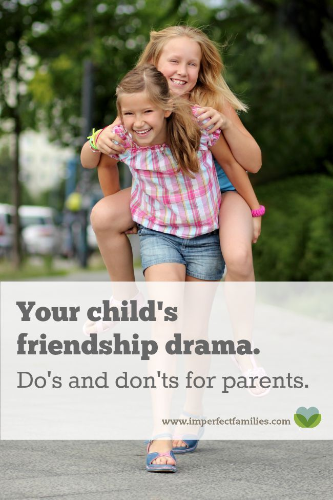 Figuring out your child's social life can be confusing! Here are some do's and don'ts for parents who want to help their kids through friendship drama.