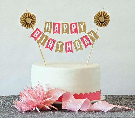 16 best topper cake images on Pinterest Bunting cake toppers