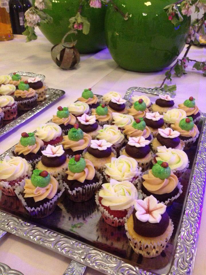 My friend's cupcakes to a kobberwedding