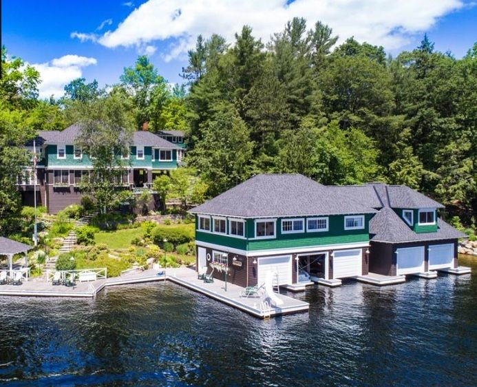 1586ed1a9f77 Early 1900s Tondern Island boathouse and estate. Muskoka.