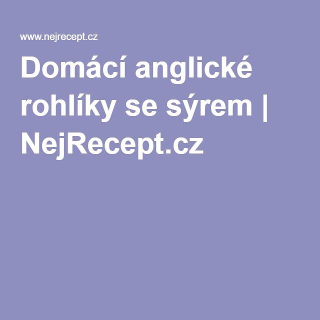 Domácí anglické rohlíky se sýrem | NejRecept.cz