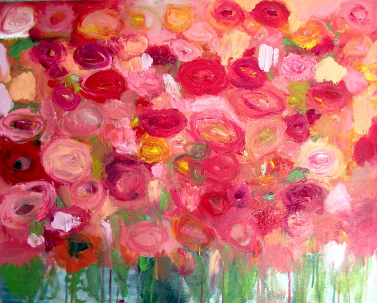 """""""December Roses"""" by Wendy McWilliams will be coming to join us in Tulsa! Beautiful work. Highly suggest you check out Wendy's art. #pink #roses for life!"""