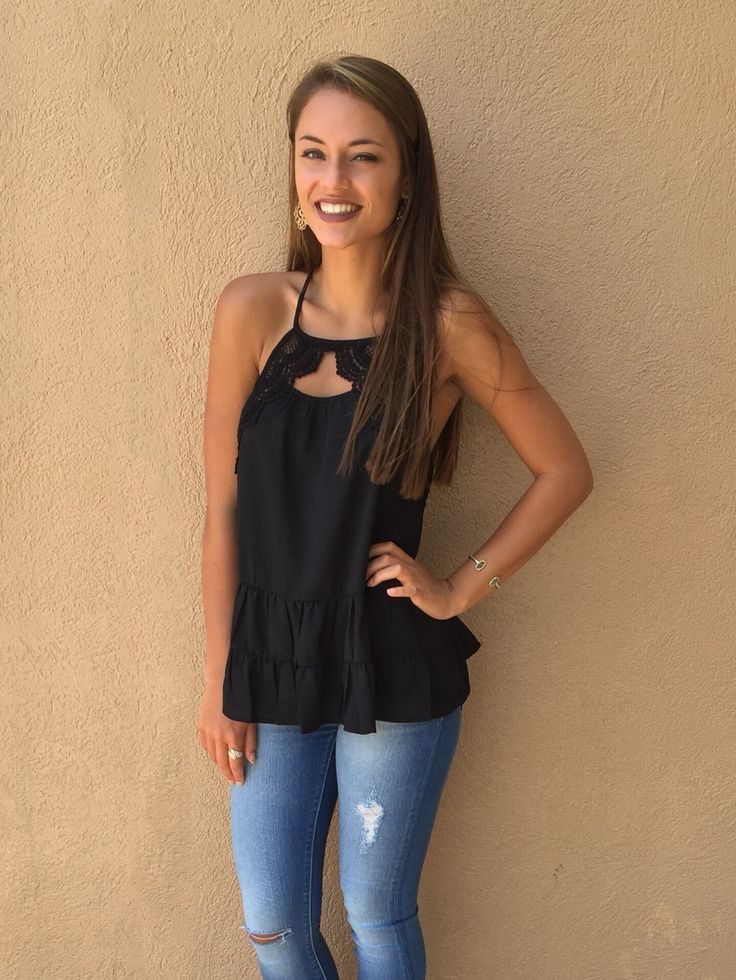Free Spirit Lace Tank - Black from Chocolate Shoe Boutique