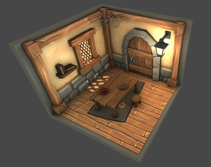 Low Poly Medieval Room, Dylan Eurlings on ArtStation at https://www.artstation.com/artwork/low-poly-medieval-room
