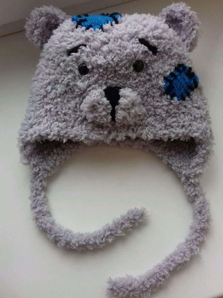 Teddy Cap / Шапка Тедди - мишка, шапка, малыш, тедди, плюшевая, плюшевая пряжа