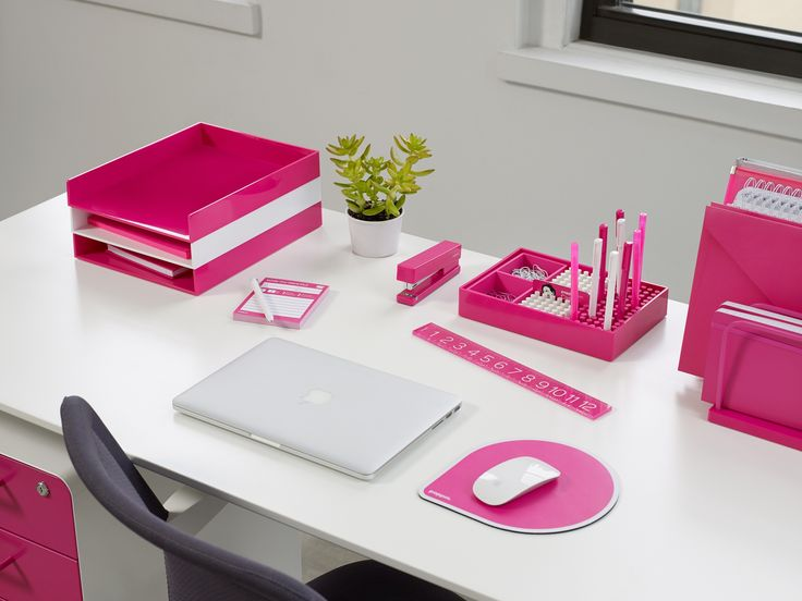 136 best images about poppin on pinterest cool office supplies desk supplies and letter tray - Pink office desk ...