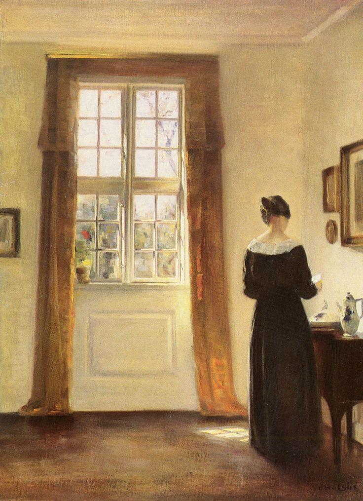 Carl Vilhelm Holsoe (1863-1935) Woman In Interior