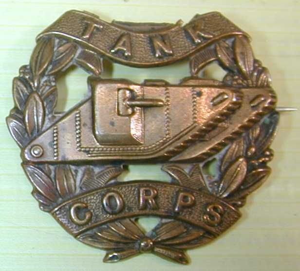 WWI Tank Corps Badge