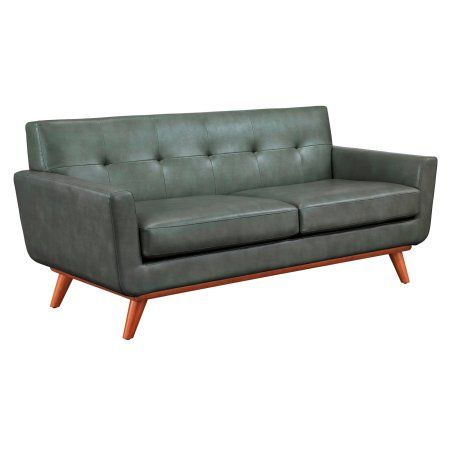Lyon Smoke Grey Loveseat, Gray