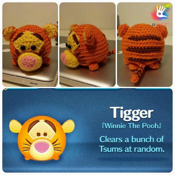Tsum Tsum Tigger Pattern por uDezignCrafts en Etsy
