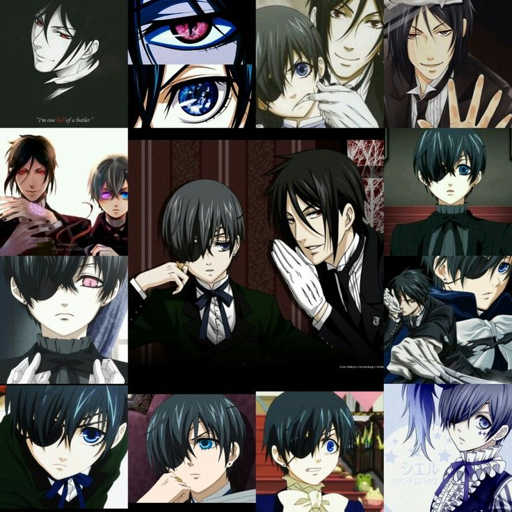 Ciel phantomhive and Sebastian michaelis. Kuroshitsuji. Black butler love