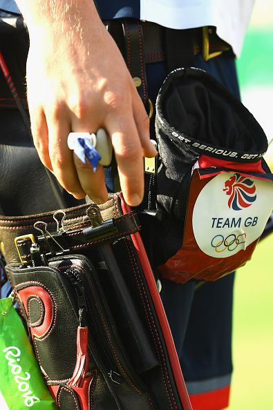 #RIO2016 A detailed view of the bag owned by Patrick Huston of Great Britain during the Men's Individual Ranking Round on Day 0 of the Rio 2016 Olympic Games...