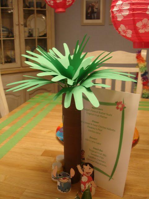 """Palm"" Tree craft for lilo and stitch night :)"