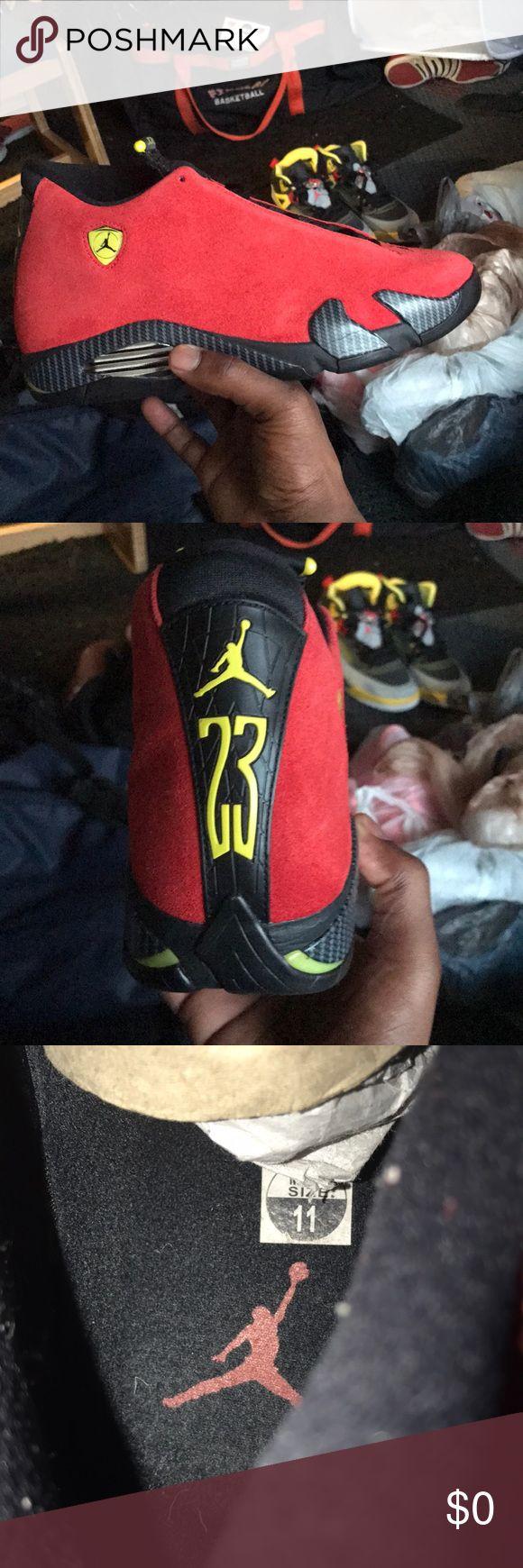 "Nike Air Jordan 14 Retro ""Ferrari"" Great conditon! Dead stock Jordan Shoes Sneakers"