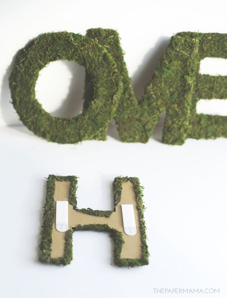 HPCreate Mossy Home Word DIY Project