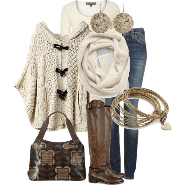 Outfit cream brown