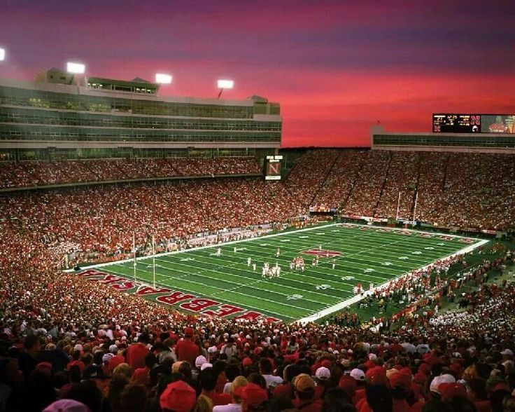 Beautiful Sunset At Memorial Stadium Huskers Pinterest