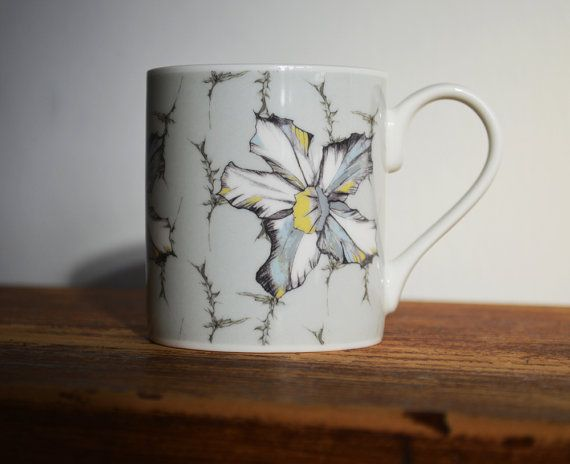 Contemporary Heritage Bone China Mugs by RachReynolds on Etsy